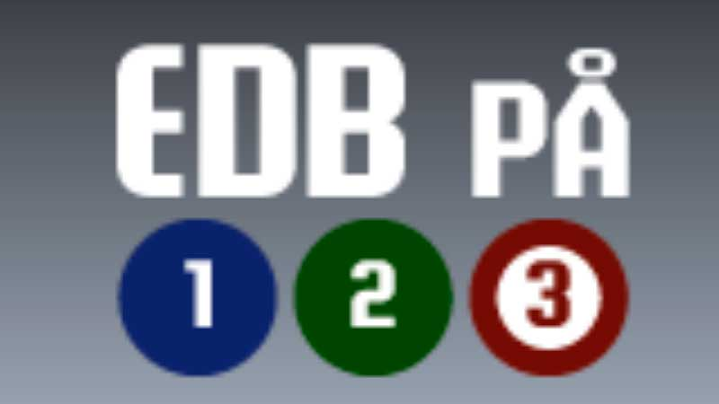 Logo for programmet EDB på 123